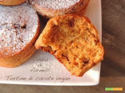 Tortine di carote vegan