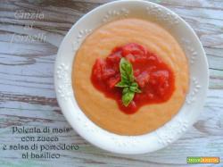 Polenta Bimby, con zucca e salsa di pomodoro