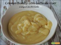 Crema Bimby con latte di riso e brioches allo yogurt