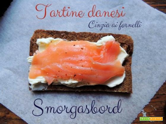 Smörgåsbord, tartine danesi