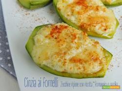 Zucchine ripiene ricotta e formaggio