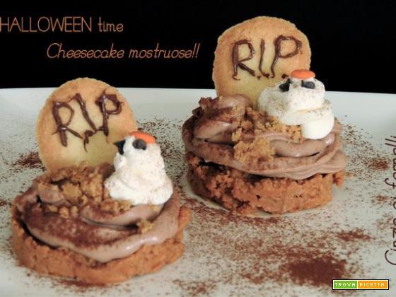 Mini halloween cheesecake