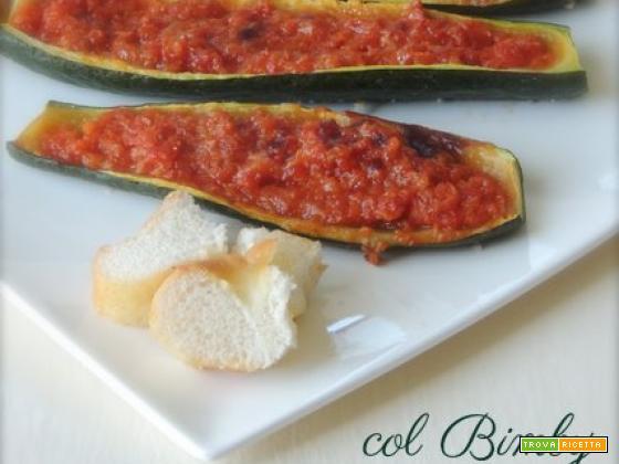 Zucchine ripiene con verdure col Bimby
