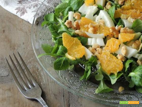 Insalata di arance con finocchi e noci