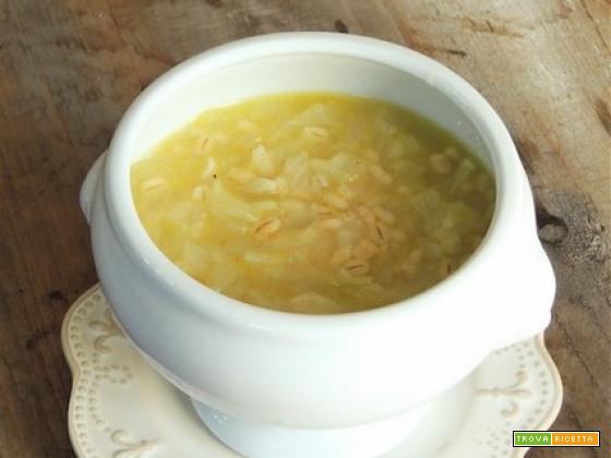 Zuppa d'orzo e cipolle col Bimby