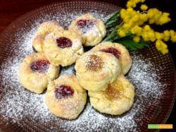 Biscottini al cocco e confettura