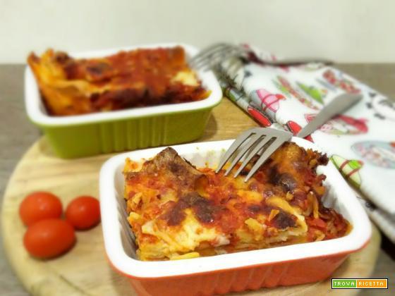 Lasagne pomodoro e basilico