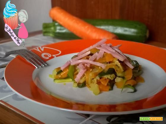Tagliatelle di zucchine e carote