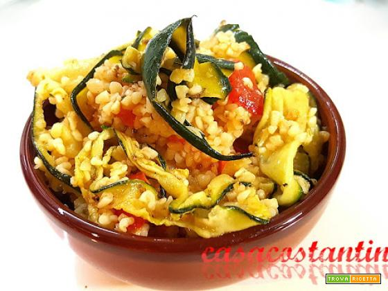 Bulgur con verdure croccanti - Oggi cucina...Samanta