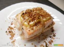 Filetti di salmone al forno con mandorle