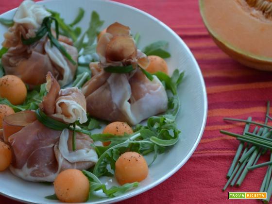 Fagottini prosciutto e melone