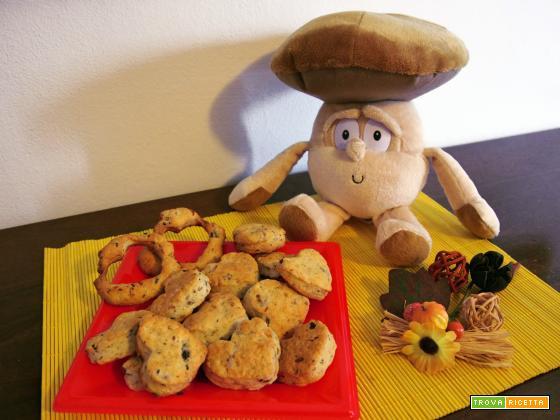 Biscotti salati ai funghi