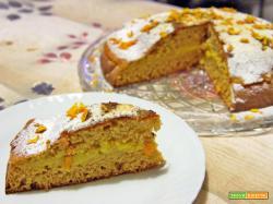 Torta integrale con crema arancia e zenzero