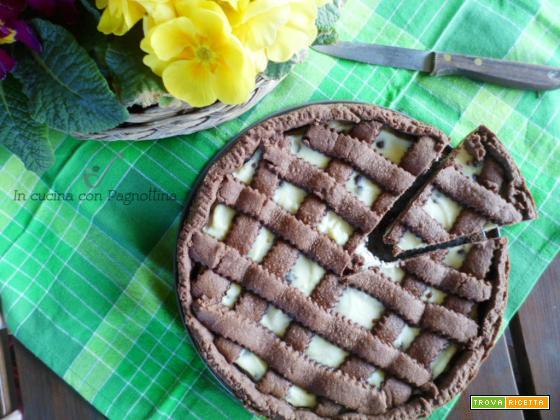 Crostata al cacao con ricotta