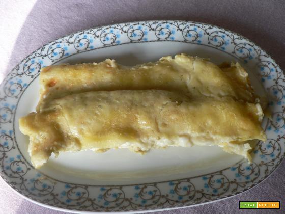 Cannelloni con ricotta e stracchino alla crema di broccoli | Noi due in cucina