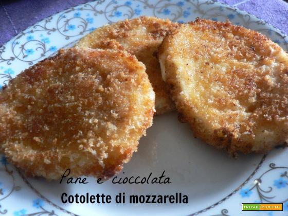 Cotolette di mozzarella-Ricetta secondo