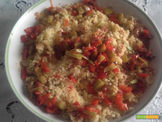 couscous con caponata di verdure