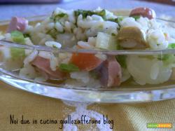 Insalata di riso al pesto-ricetta veloce