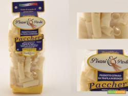 Paccheri gratinati con zucchine piselli e speck