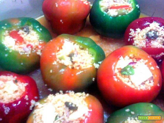 Peperoni ripieni di cous cous