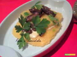 Polenta funghi e fontina-ricetta antipasto Natale