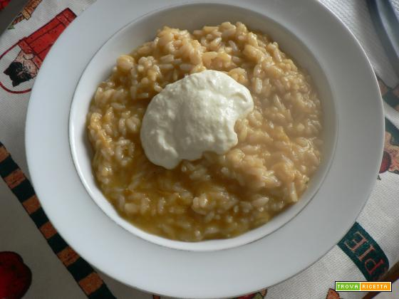 Risotto alla crema di zucca con fonduta-Ricetta di stagione | Noi due in cucina