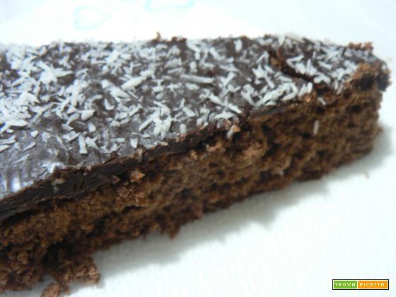 Torta al cioccolato ricoperta-Noi due in cucina