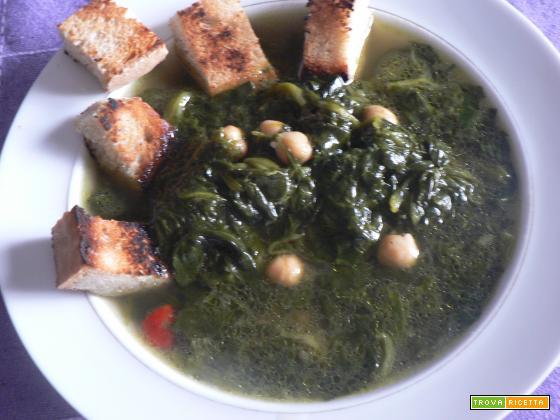 Zuppa spinaci e ceci-Ricetta tradizionale | Noi due in cucina