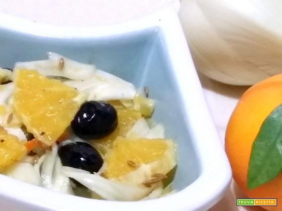 Insalata di finocchi arance e olive
