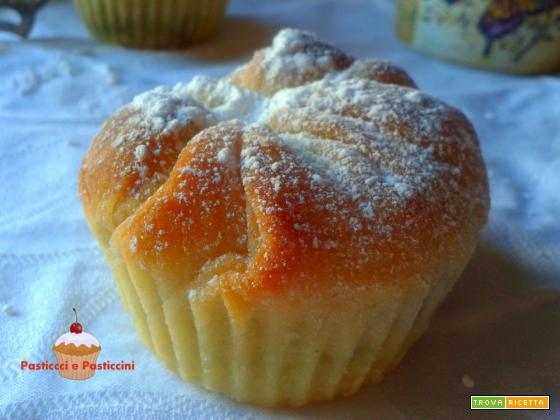 Muffin brioche alla nutella