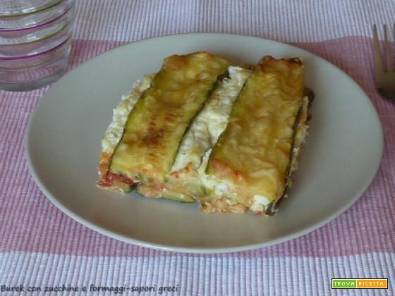 Burek con zucchine e formaggi