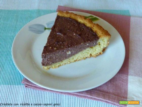 Crostata con ricotta e cacao