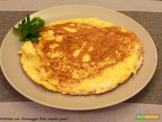 Frittata con formaggio feta