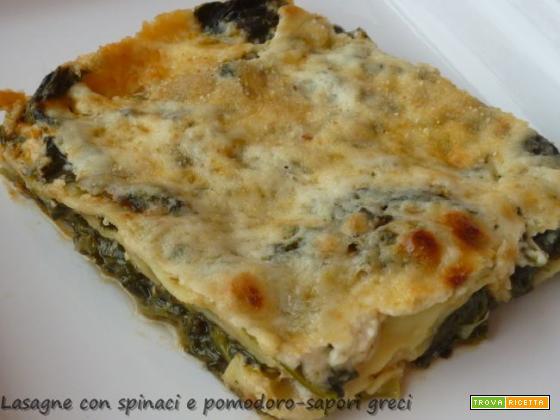 Lasagne agli spinaci e pomodoro