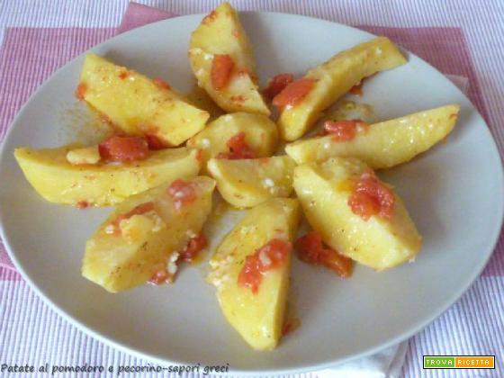 Patate al pomodoro e pecorino