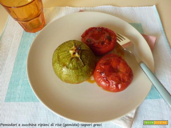 Pomodori e zucchine ripieni di riso