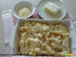 Rigatoni gratinati al gorgonzola