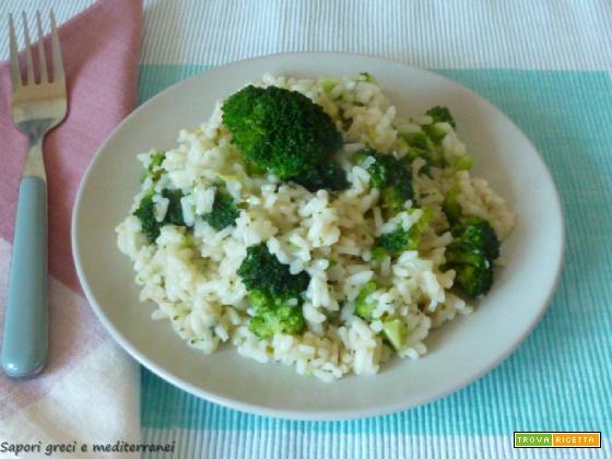 Risotto con broccoletti