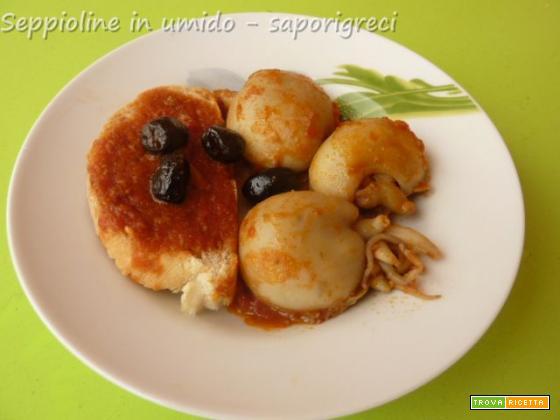 Seppioline in umido con olive nere