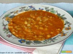 Zuppa di ceci con i quadretti