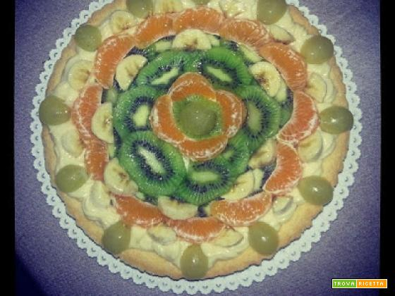 Crostata di frutta con olio