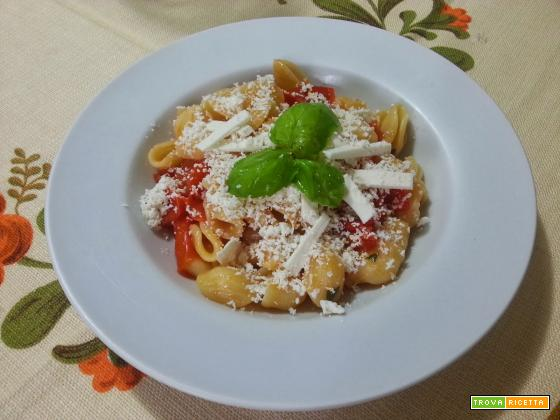 Orecchiette baresi homemade con pomodoro fresco, basilico e cacioricotta