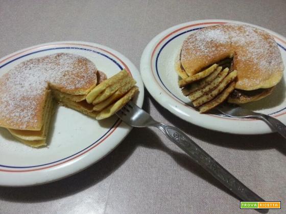 Pancakes dolci con olio extravergine di oliva