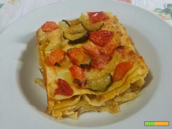Lasagne vegetariane senza besciamella