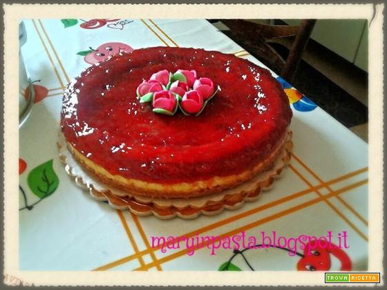 NY Cheesecake con confettura di fragole