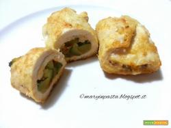 Involtini di petto di pollo con zucchine glassati al parmigiano