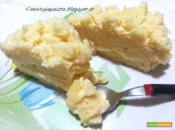 Torta mimosa all'ananas con crema diplomatica