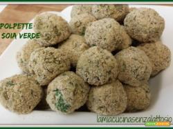 Polpette di soia verde senza uova al forno