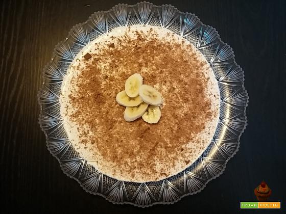 Torta fredda allo yogurt e banana