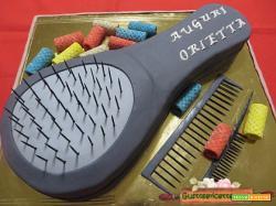 Torta decorata spazzola per capelli